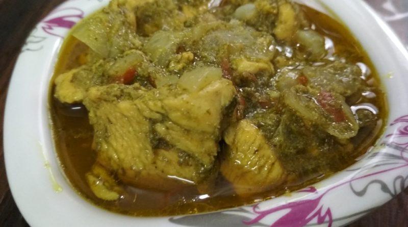 chicken in green thai curry