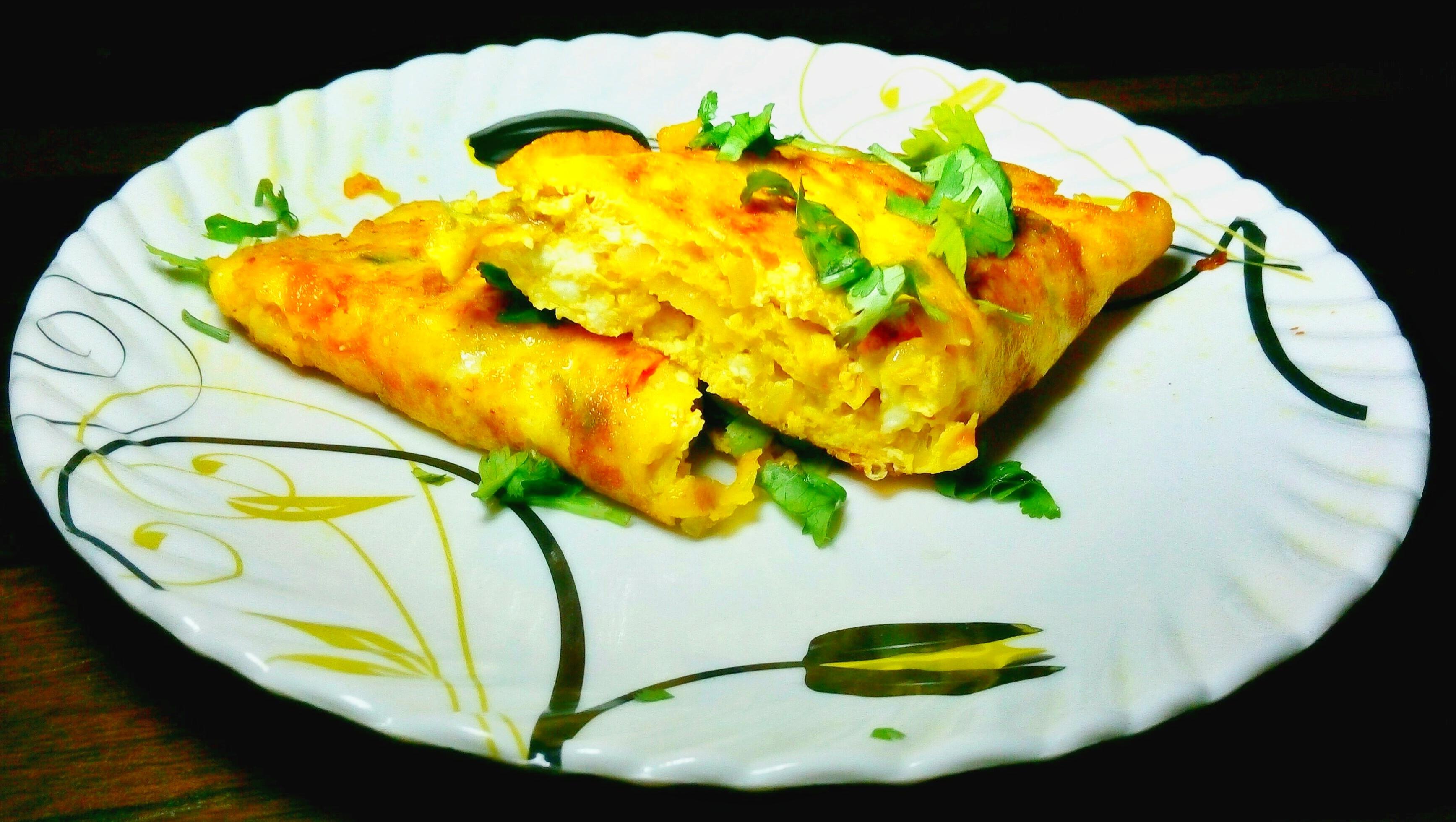 Egg Paneer Omelette Recipe