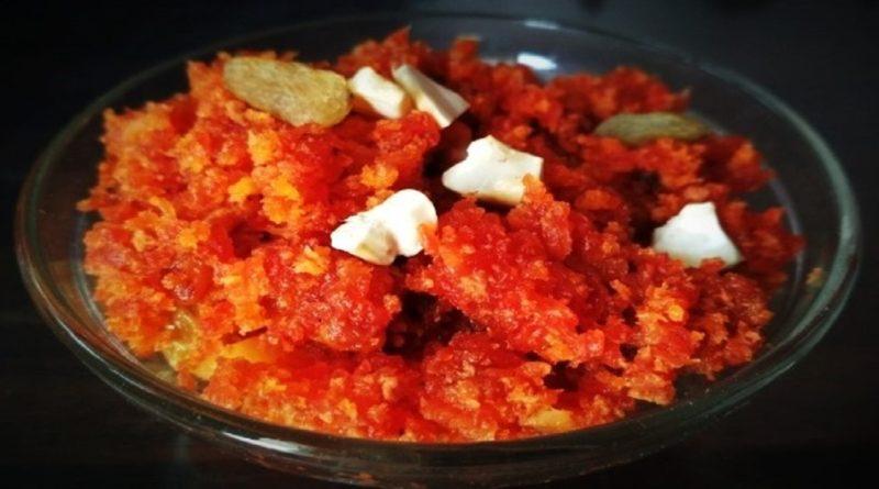 carrot ka halwa , halwa without cooker, Gajar Ka Halwa Recipe Without Khoya